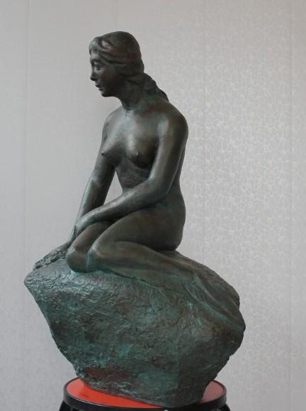 天津雕塑—美人鱼雕塑制作完成