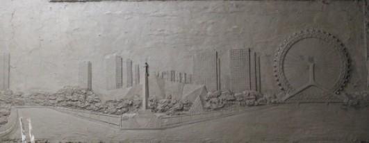 """天津雕塑—人造砂岩浮雕制作开始--天津""""眼""""浮雕"""