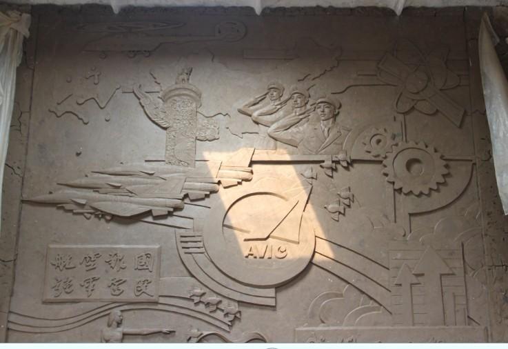 天津雕塑—大厅装饰壁画浮雕制作完成