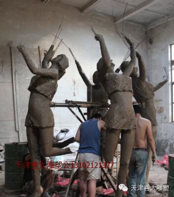 【天津善大雕塑】广州公司五铸铜人物雕塑