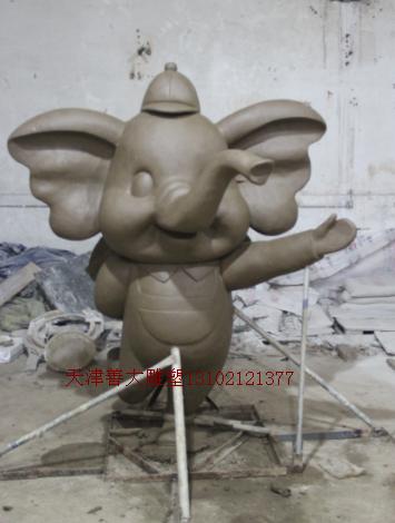 天津红桥幼儿园大象雕塑【天津善大雕塑公司工程图片